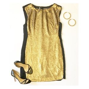Rebecca Taylor Gold Sequin Dress
